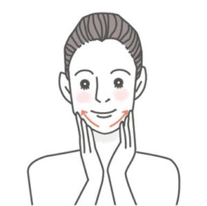 顎と口元のマッサージ